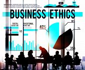 stock photo of morals  - Business Ethics Moral Policies Awareness Marketing Concept - JPG
