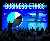 image of morals  - Business Ethics Moral Policies Awareness Marketing Concept - JPG