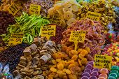 foto of dry fruit  - Dry fruits for sale in a bazaar in Istanbul - JPG