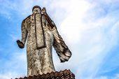 stock photo of hindu  - Ancient Buddha hindu statue at Sala Kaew Ku Nongkhai Thailand - JPG