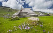 picture of velika  - Velika Planina hill is a tourist attraction and destination - JPG