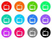 picture of tv sets  - tv vector web icon set - JPG