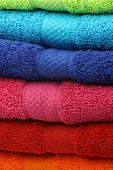 Colorful fluffy cotton  towels poster