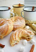 pic of eclairs  - Eclairs with cream, cream puffs, cream puff ** Note: Soft Focus at 100%, best at smaller sizes - JPG