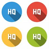 pic of high-quality  - Set of 4 isolated flat colorful buttons  - JPG