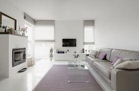 foto of taupe  - image of modern living room with taupe sofa - JPG