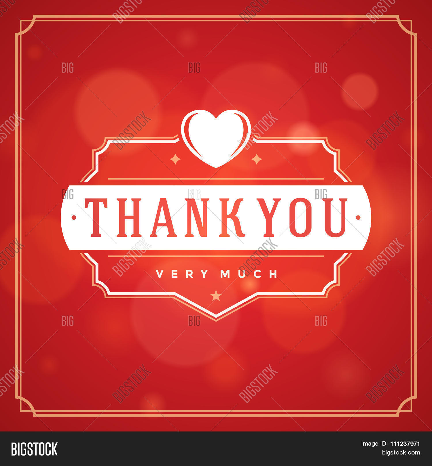Thank You Typography Message Vector Photo Bigstock