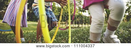 Child Children Childhood Hula Hoop Hooping Kids Concept