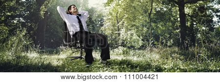 Businessman Nature Creative Occupation Conservation Concept