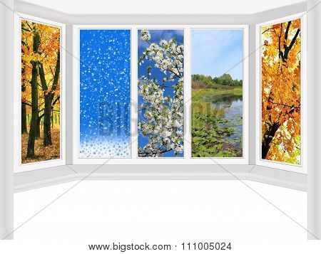 Window Overlooking The Four Seasons