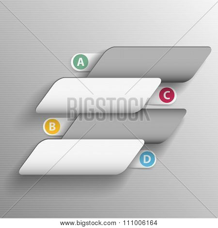 template of abstract shapes for your text with the label A, B, C, D options