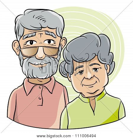 good grandfather and grandmother