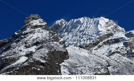 Lobuche Peak And Glacier