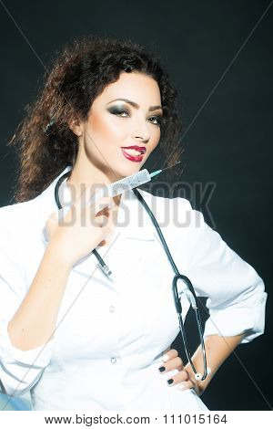 Woman With Suringe