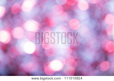 Pink-lilac Indistinct Background With Effect Of Bokeh