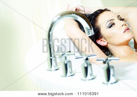 Woman In Bath Tab