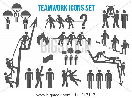 Teamwork Icons Set