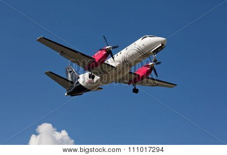 FORT LAUDERDALE, USA - May 24, 2015: A Silver Airways Saab 340B plus aircraft.