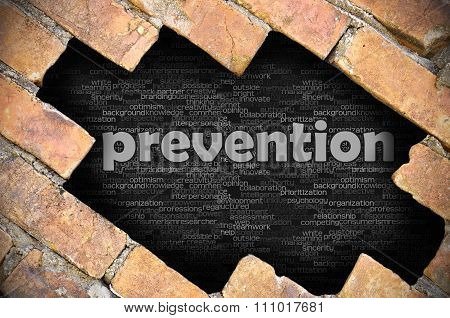 Hole In The Brick Wall With Word Prevention