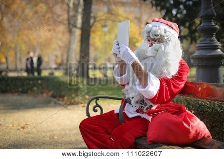 Santa Claus at the park