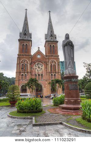 Ho Chi Minh City, Vietnam - Circa August 2015: Saigon Notre-dame Basilica In Ho Chi Minh City  (saig