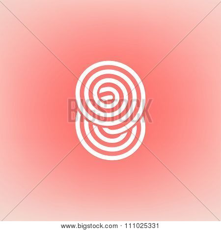 Vector Minimalistic Linear Concentric Circles Spiral Loop Digit Eight Shape Logo In A Simple Modern