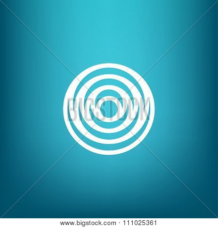 Vector Minimalistic Linear Water Ripple Circles Concentric Round Shape Logo In A Simple Modern Style