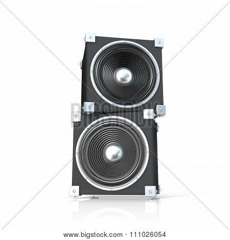 Pair of sound speakers. 3D render