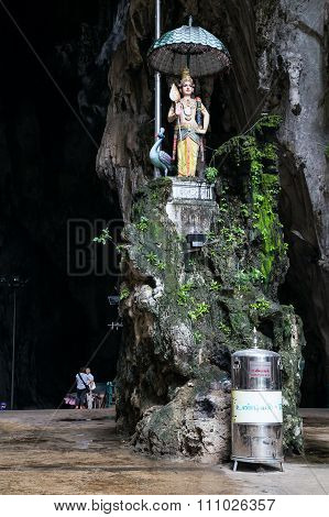 Kuala Lumpur, Malaysia - Circa September 2015: Entrance To Cathedral Cave In Batu Caves Complex,  Ma