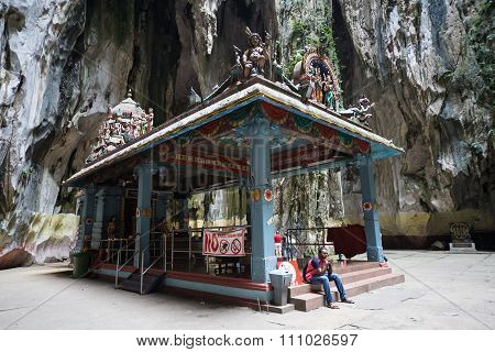 Kuala Lumpur, Malaysia - Circa September 2015: Shrine In Ramayana Cave In Batu Caves Complex, Kuala