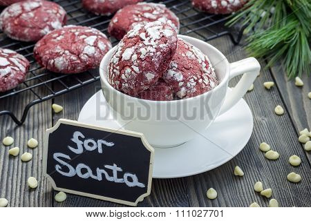Red Velvet Crinkle Cookies With White Chocolate Chips