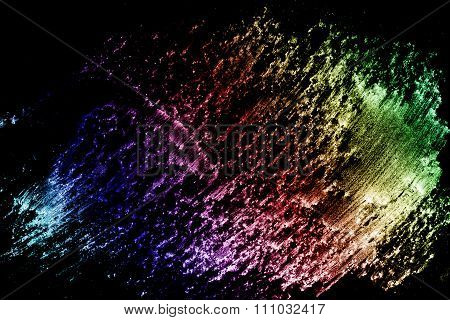 Abstract Multicolored Pencil Texture. Grunge Background.