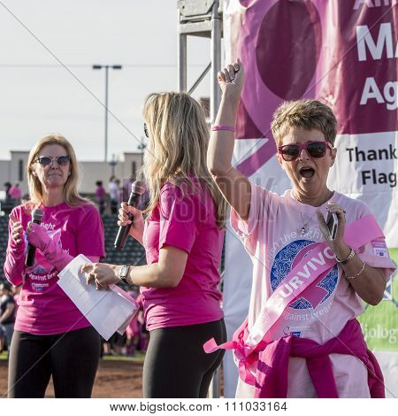 Breast Cancer Survivor At Awareness Event