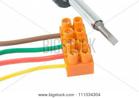 Screwdriver And Electrical Cable