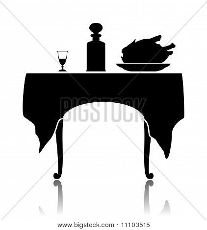 Restaurant little table