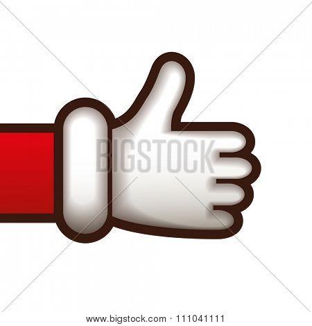 Thumbs up Santa hand