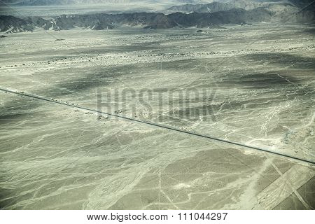 Nazca Lines On Desert In Peru, South America