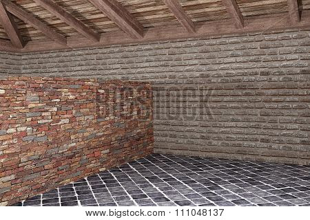 House Interior. Different Materials