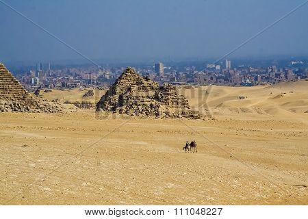 Egyptian pyramids.