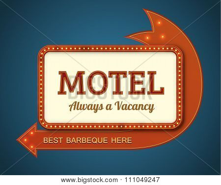 Old motel signboard