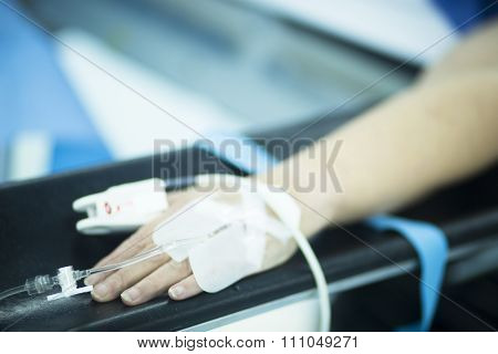 Patient Hand In Hospital Operating Room Surgery