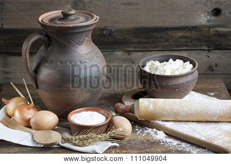 Rustic natural dairy products