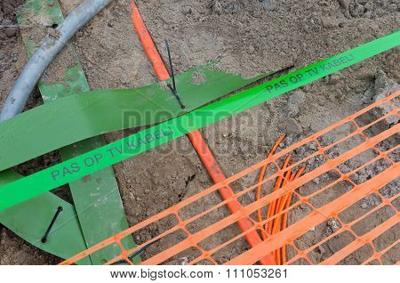 Television Cable In Ground