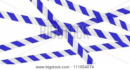 Blue And White Striped Barrier Tape Background