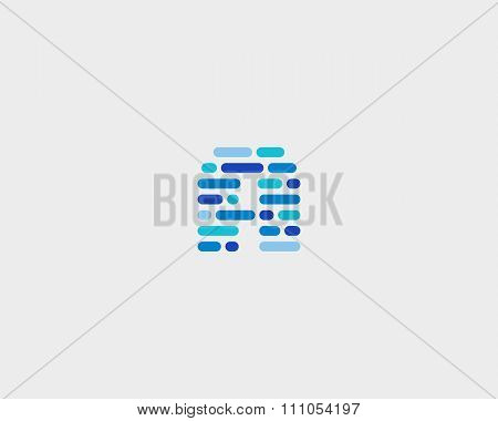 Abstract letter A logo.  Dynamic code vector unusual font.
