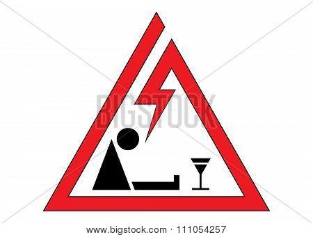 sign danger, alcoholism.