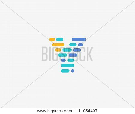 Abstract letter Y logo.  Dynamic code vector unusual font.