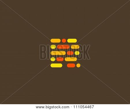 Abstract letter R logo.  Dynamic code vector unusual font.
