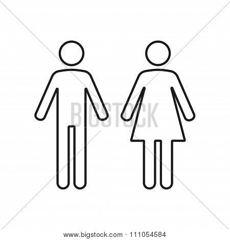 Man and Woman restroom icons