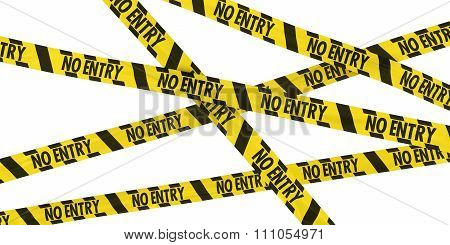 Yellow And Black Striped No Entry Barrier Tape Background